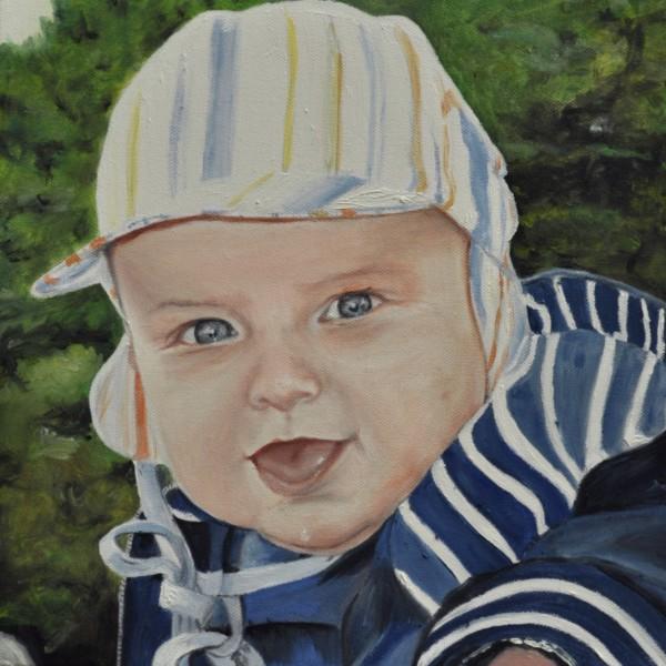 Dickes Baby, Gemälde